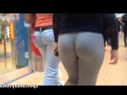 Гиг Порно Молоденькая шалава с упругой жопой разгуливает по тц в претальных леггинсах HD Большие Жопы Любители Молодые На Публике гигпорно видео