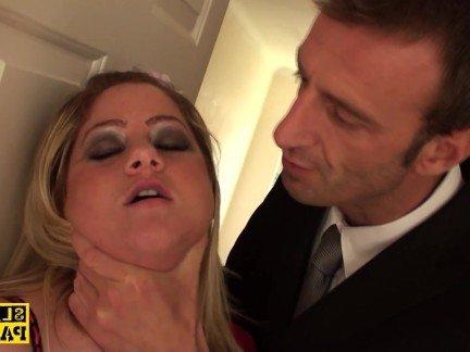 Гиг Порно Англичанка в страстном нижнем белье получает грубые шлепки по жопе HD Бондаж Британки Грубый Секс гигпорно видео