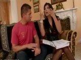 Горячая латинская цыпочка дает шикарные уроки испанского языка