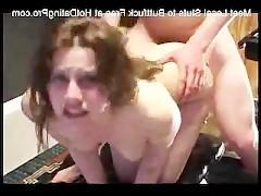Болезненная анальная ебля молодой сучки перед веб камерой