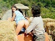 Порно звезда, девушка со стороны и фермер