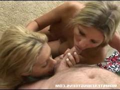 Зрелая баба учит молодую подружку как правильно ебаться с мужиком