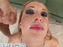 Онлайн сперма в рот и на лицо