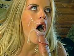 Камшот подборка с нарезкой спермы на лицо и в рот с чешской порно звездой Lea de Mae