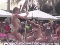 Развратный эротический фестиваль с показом стриптиза для пьяной публики